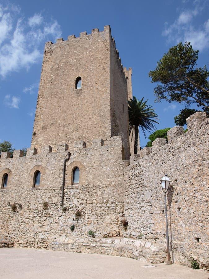 Torri Pepoli, Erice, Sicily, Italy stock photos