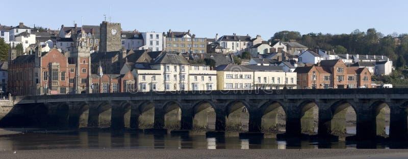 Torridge de fleuve de Bideford Devon photographie stock libre de droits