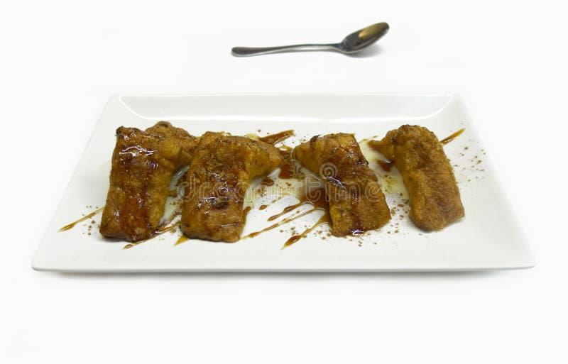Torrijas, doce espanhol típico no emprestado e Páscoa ou Semana Santa. fotografia de stock royalty free
