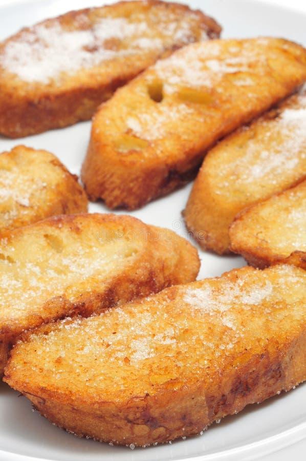 Torrijas, sobremesa espanhola típica para Lent e Easter foto de stock royalty free