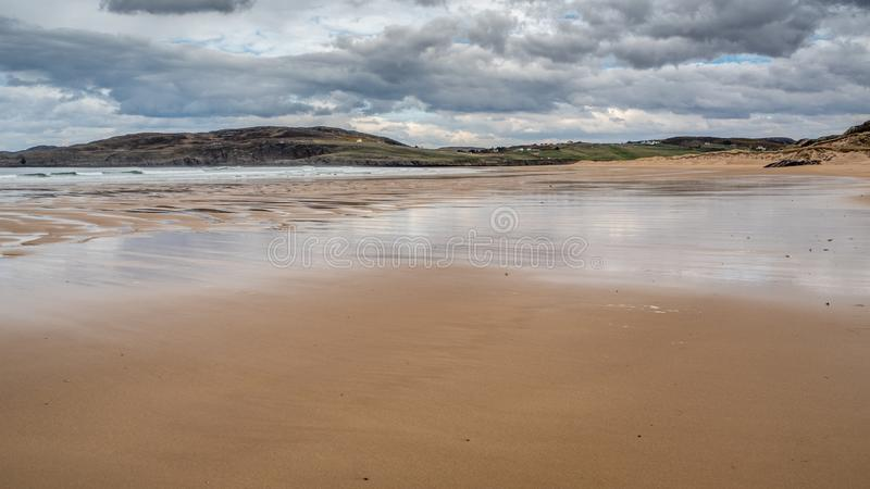 Torrisdale Bay and sandy beach royalty free stock image