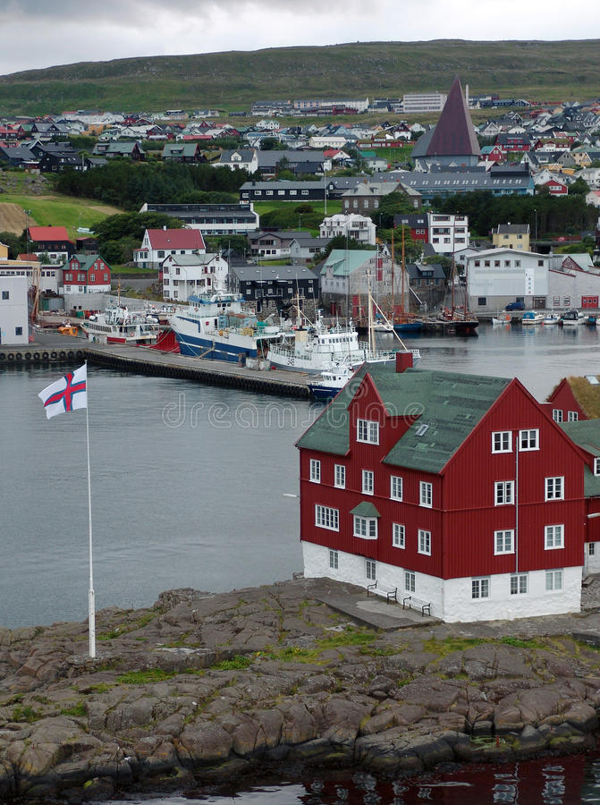 Torshavn (Νησιά Φερόες) στοκ εικόνα