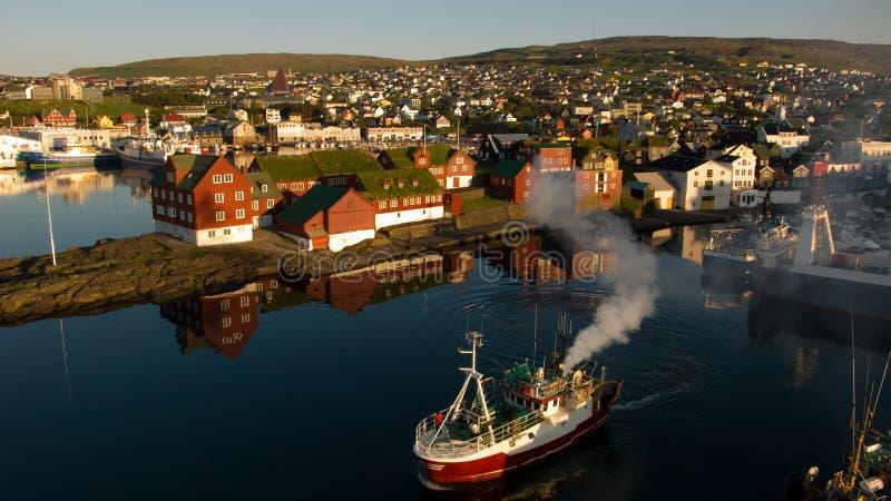 Torshavn stock afbeelding