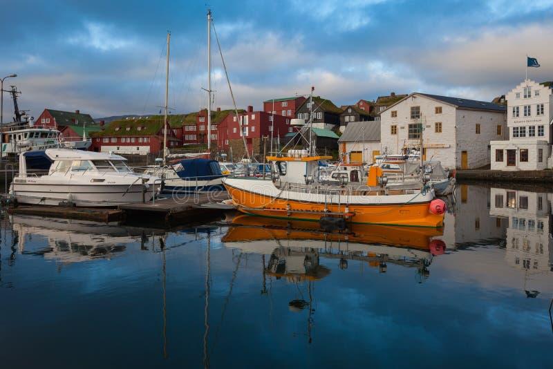 Torshavn, de Faeröer stock fotografie