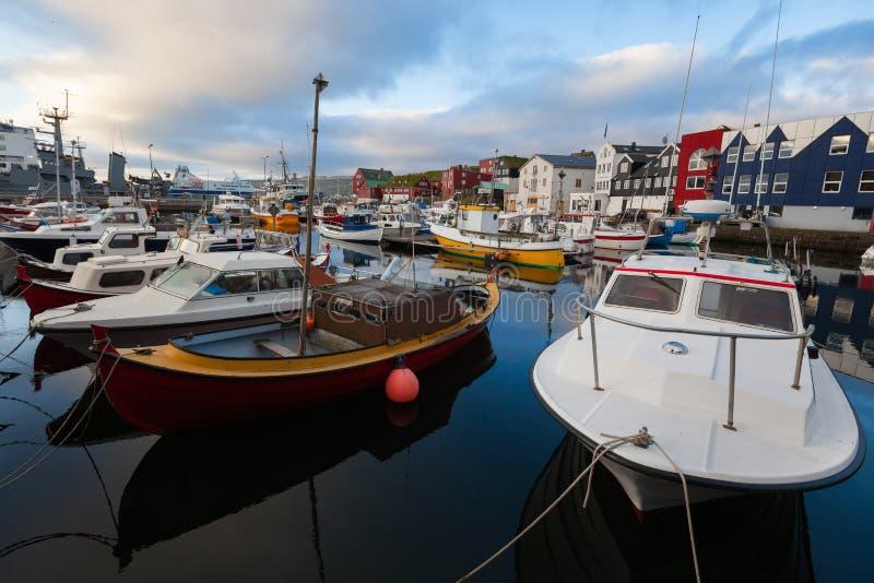 Torshavn Faroe Island fotografering för bildbyråer