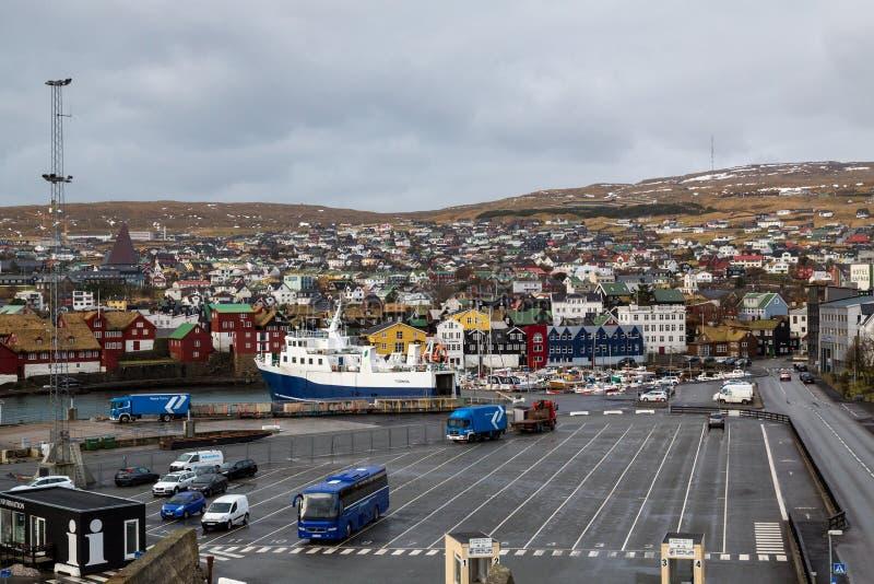 Torshavn port stock photography