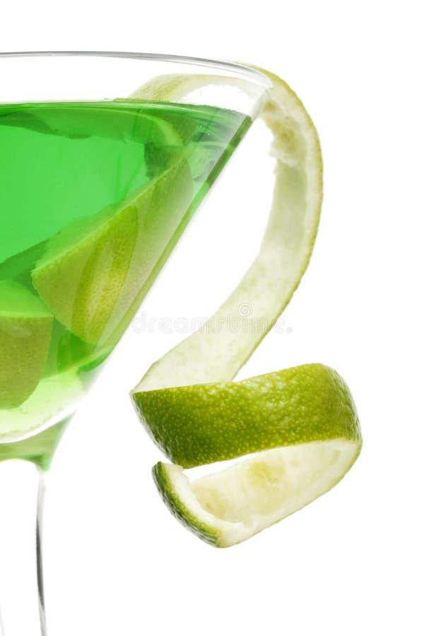 Torsion de cocktail de citron image stock