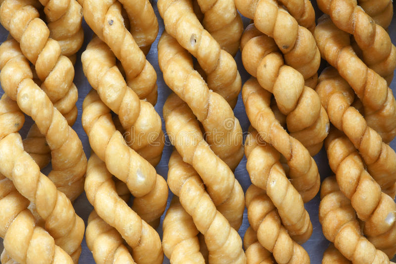 Torsion frite de la pâte photos libres de droits