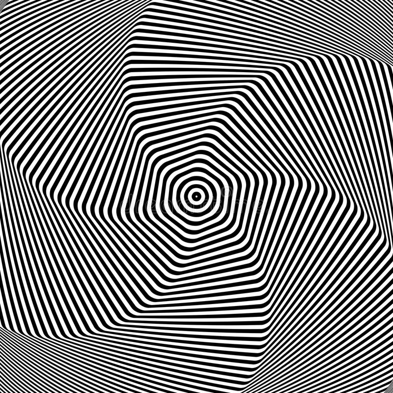 Torsion movement. Abstract op art design. vector illustration