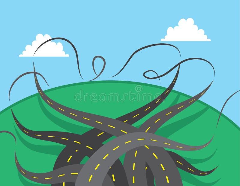 Torsione delle strade illustrazione vettoriale