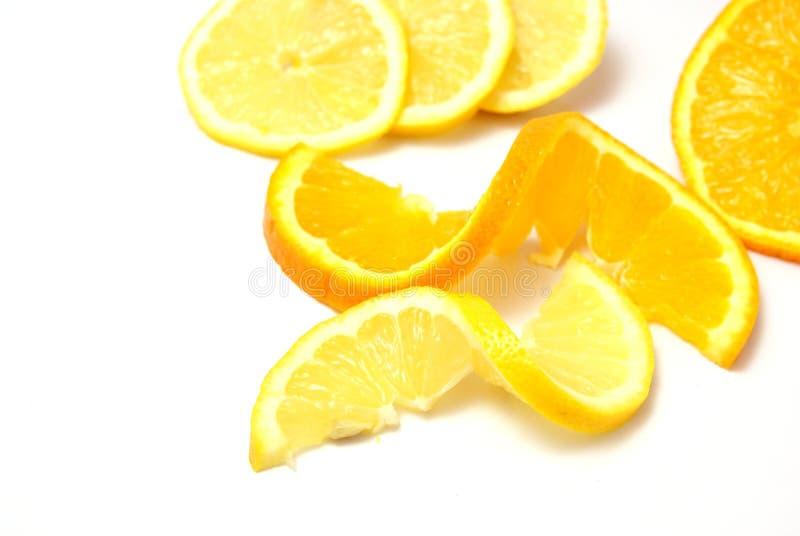 Torsions de citron photographie stock libre de droits