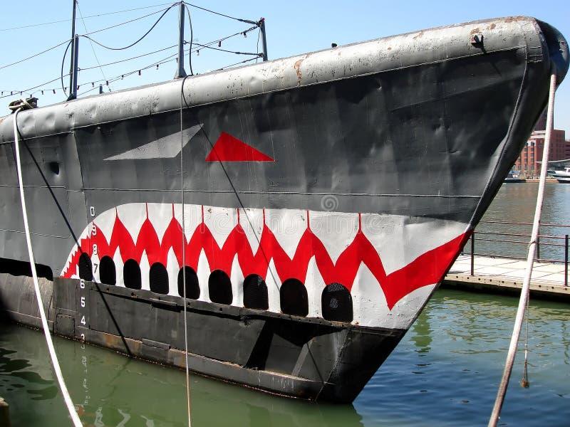 Torsk sottomarino nel porto interno di Baltimora fotografia stock
