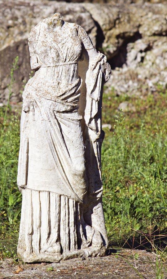 Torso arcaico grego da estátua imagem de stock