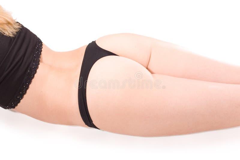 Torso da mulher isolado no branco foto de stock