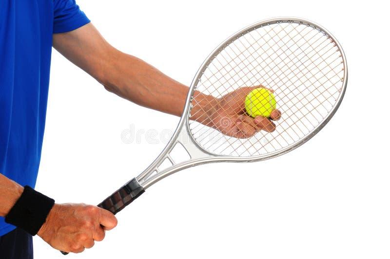 Torso del jugador de tenis imágenes de archivo libres de regalías