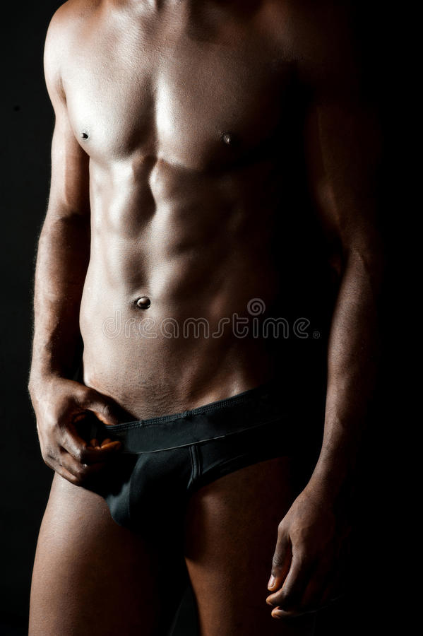 Torso despido do homem muscular novo foto de stock