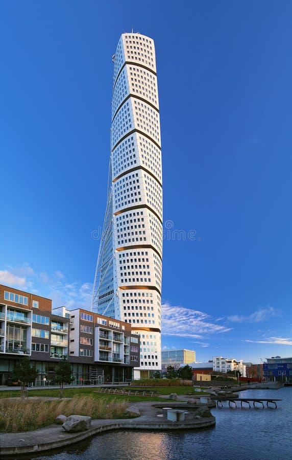 Torso di giro - grattacielo a Malmo fotografie stock libere da diritti