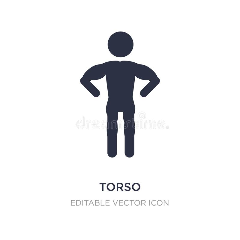 torso icon on white background. Simple element illustration from People concept stock illustration