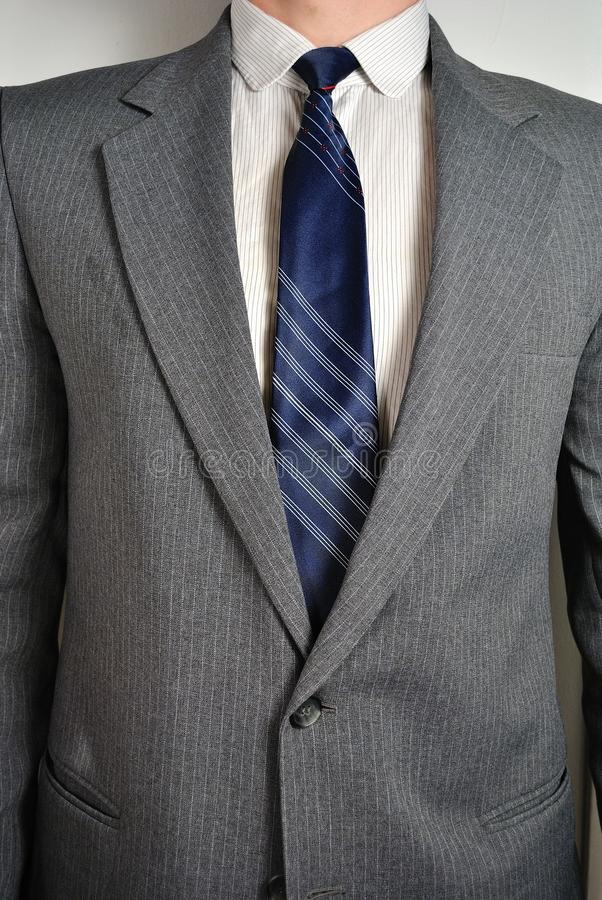Torso of a man in a Suit royalty free stock images