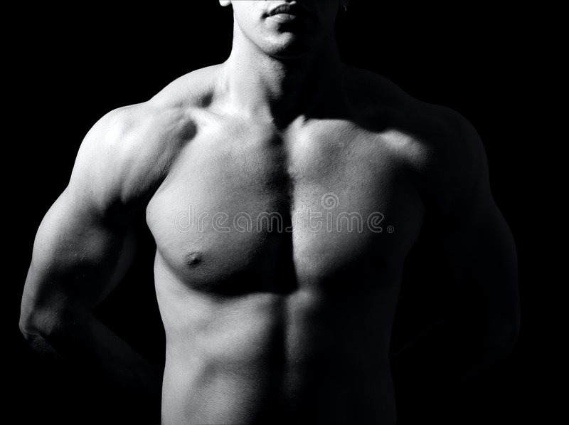 Torso masculino muscular fotografía de archivo libre de regalías