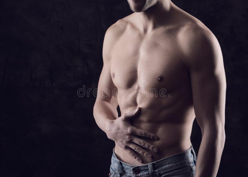 Stomaco-dolore fotografie stock libere da diritti
