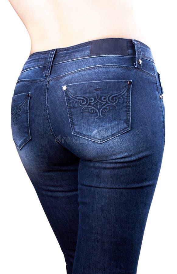 Torso van meisje in jeans royalty-vrije stock foto's