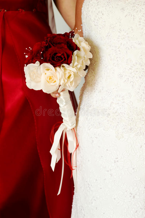 Download Torsos Of A Bride And Bridesmaid Stock Photo - Image of bouquet, love: 13428664