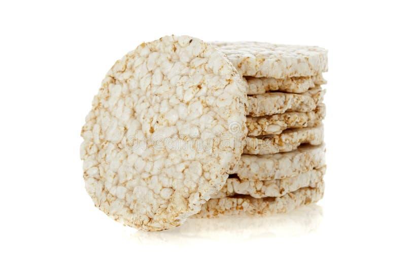 tortów dieta odizolowywający palowy ryżowy biel fotografia stock