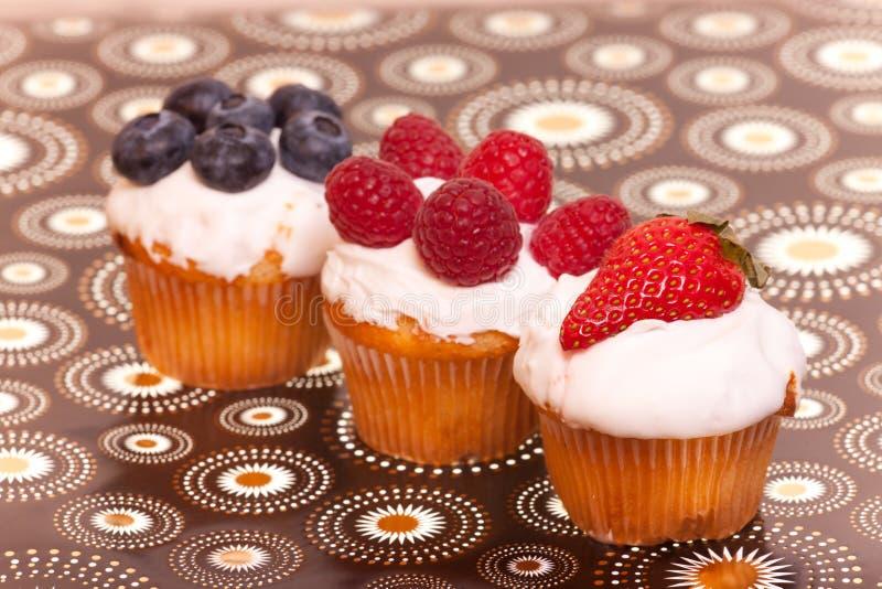 tortów filiżanki owoc zdjęcie stock