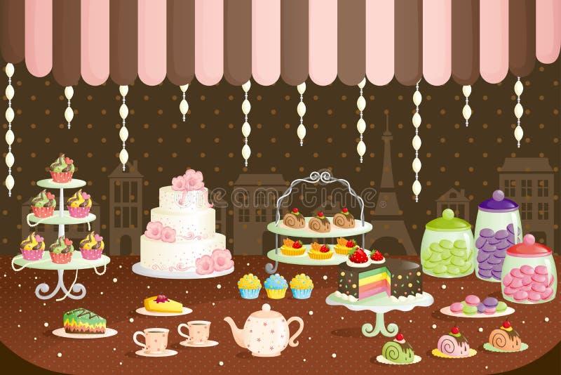 tortów pokazu sklep ilustracja wektor