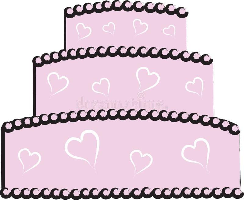 tort ślub royalty ilustracja