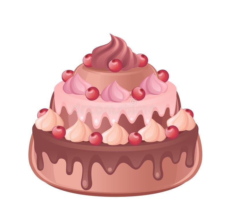 Tort royalty ilustracja