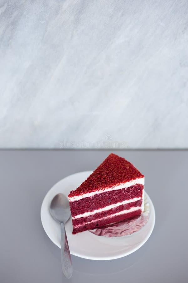 tort czerwony aksamit fotografia stock
