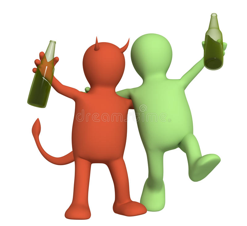 Tort d'alcoolisme illustration libre de droits