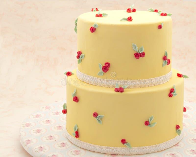 Tort dekorujący obraz royalty free