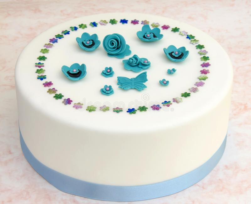 Tort dekorujący fotografia royalty free