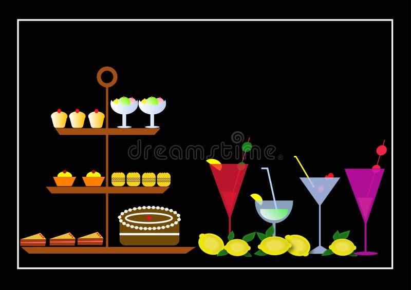 tort drinka royalty ilustracja