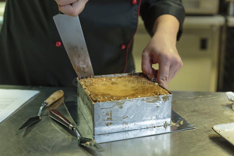 Tort, jab?czany kulebiak, pieczenie, baklava, bo?niacki jedzenie, tort, chips, deser, ?atwy deser, p?atkowaty ciasto, bliskowscho zdjęcie stock