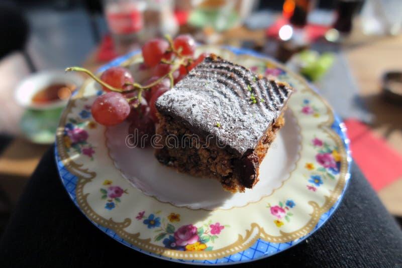 Tort spotyka owoc obraz royalty free