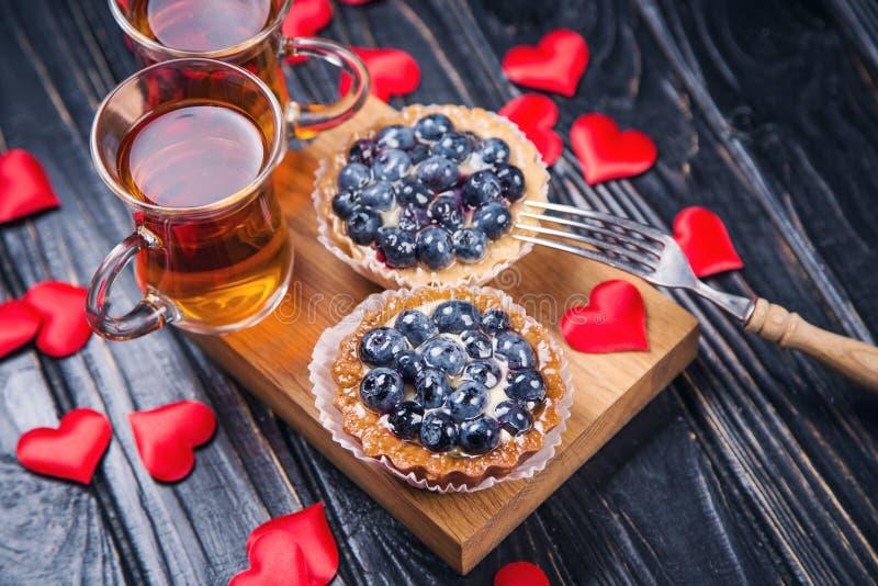 Tort z czarną jagodą zdjęcia stock