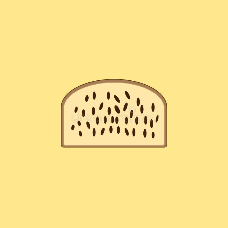 Tort z rodzynkami na żółtym tle ilustracja wektor