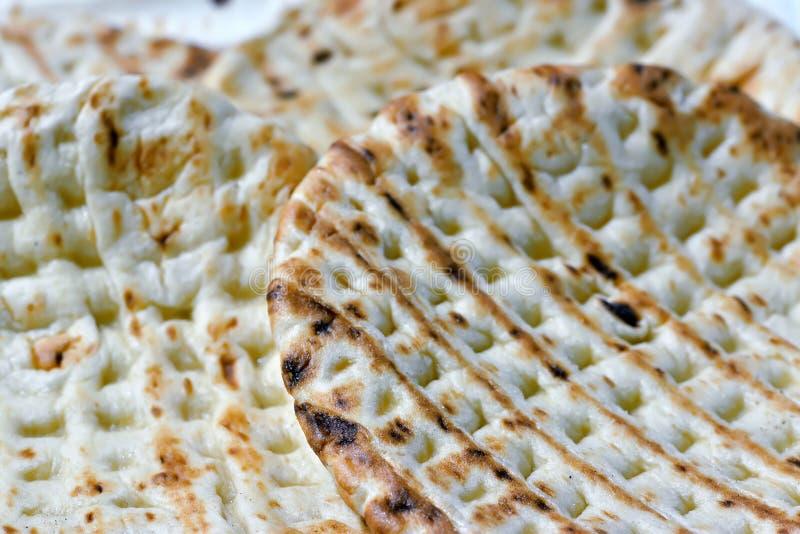 Torta ácima como el matzah fotos de archivo