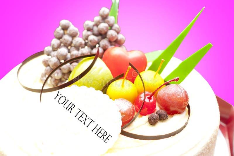 Torta al gusto di frutta fotografia stock