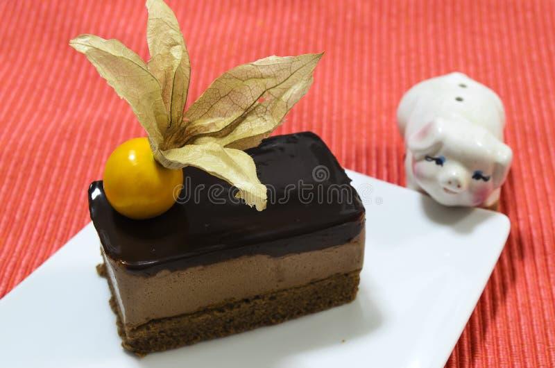 Download Torta Anaranjada De La Crema Batida Del Queso De Choc Imagen de archivo - Imagen de delicioso, adorne: 42445749