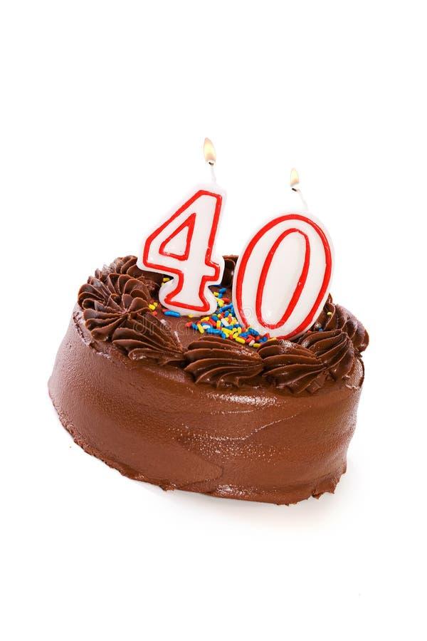 Torta: Apelmácese para celebrar el 40.o cumpleaños imagenes de archivo
