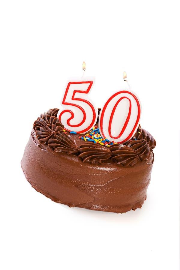 Torta: Apelmácese para celebrar el 50.o cumpleaños fotografía de archivo