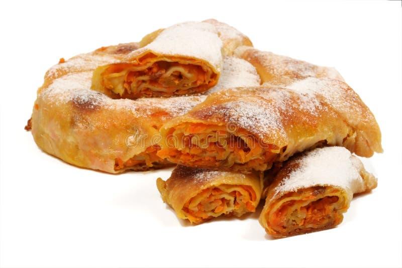 A torta búlgara 3 das cenouras imagem de stock