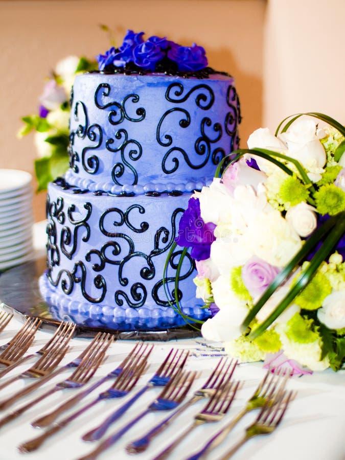 Torta blu! fotografia stock