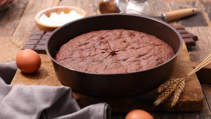 Torta casalinga del cioccolato fotografia stock libera da diritti