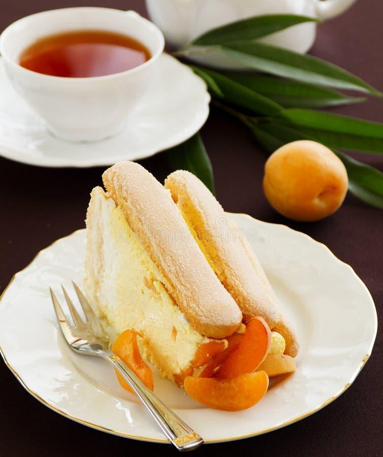 Torta Charlotte de la fruta del verano fotografía de archivo